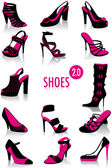 Shoes silhouettes 2.0 — Stock Vector