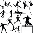 Athletic sport vector silhouettes — Stock Photo #5861711