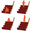 Stock Photo: Baby climbs stairs illustration