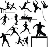Athletic sport vector silhouettes — Stock Photo