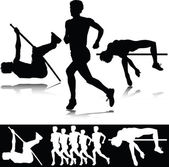 Athletics sport vector silhouettes — Stock Photo
