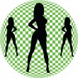 Sexy girl optical vector silhouettes — Stock Photo #5896438
