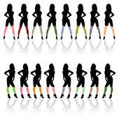 Sexy meisje in kousen kleur afbeelding — Stockfoto
