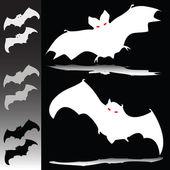 蝙蝠图剪影 — 图库照片