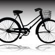 Bicycle vector silhouettes — Stock Photo #5989081