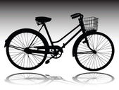 Bicycle vector silhouettes — Stock Photo