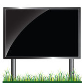 Billboard black vector illustration — Stock Photo