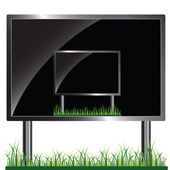 Billboard in billboard vector illustration — Stock Photo