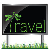 Billboard travel vector illustration — Stock Photo