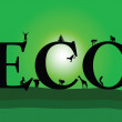 Sweet green eco sign — Stock Photo
