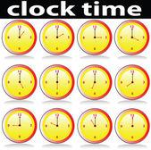 Clock time illustration — Stock Photo