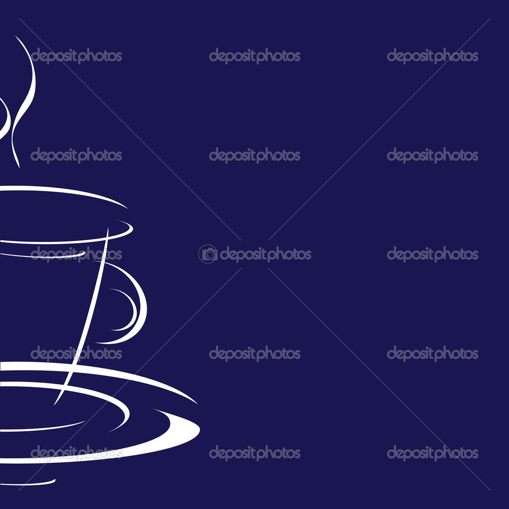 Sweet cup of coffee on a blue background — Stock Photo #6367777