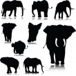 Elephant silhouettes — Stock Photo #6447253