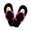 Stock Photo: Beauty flip flop