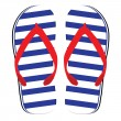 Stock Photo: Color flip flop vector illustrations