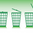 Green basket — Stock Photo
