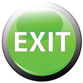 Exit button — Stock Photo