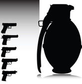 Waffe-vektor — Stockfoto