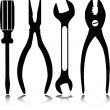 Home tools vector silhouettes - Stock Photo