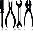 Home tools vector silhouettes — Stock Photo