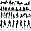 Hot girls illustration vector silhouettes — Stock Photo #6520545