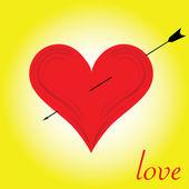 Heart of love illustration — Stock Photo