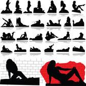 Hot sexy woman illustration — Stock Photo