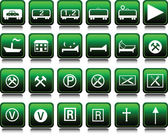 Icons set green illustration — Stock Photo