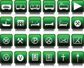 Conjunto de iconos ilustración verde — Foto de Stock