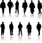 Men in various poses photo two — Stock Photo