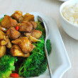 Chinese style mushrooms and cauliflower with rice — Stock Photo #5820855