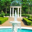 Fountain and pavilion — Stock Photo #5836395