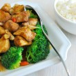 Chinese style mushrooms and cauliflower with rice — Stock Photo #5840602