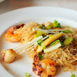 Oriental seafood vermicelli - Stock Photo