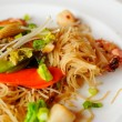 Elaborate Asian dry noodles — Stock Photo