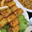 Special fried bean curd dish — Stock Photo