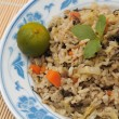 Stock Photo: Fried rice with lime