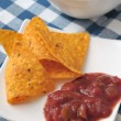 Nachos with tomato sauce - Foto de Stock