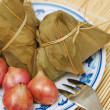 Traditional dumplings and ingredients - Foto de Stock