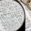 Magnification of definition of translation — Stock Photo