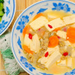 Simple vegetarian bean curd — Stock Photo