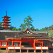 Majestic, ancient shrine with pagoda — Stock Photo