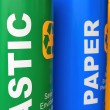 Colorful recycle bins — Stockfoto