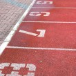Numbered running track — Stock Photo