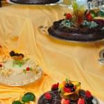 zobrazit různé dorty — Stock fotografie