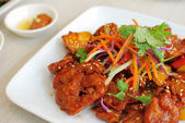 Chinese vegetarian sweet and sour pork — Stock Photo