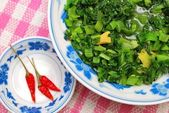 Homemade Chinese vegetarian cuisine — Stock Photo