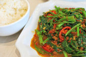Sumptuous Chinese style spicy vegetables — Stock Photo
