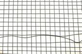 Broken badminton racket details — Stock Photo