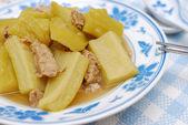 Healthy bitter gourd cuisine — Stock Photo